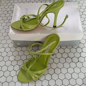 Charles David Viper Green Stilletto Sandals